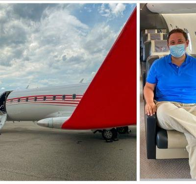 A private jet firm is selling social distance-friendly seats between New York and Florida for the price of first class ticket - see inside the luxurious plane