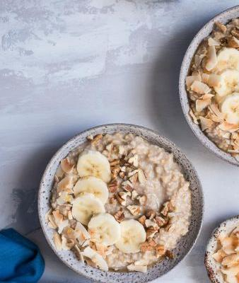 Banana Bread Steel Cut Oatmeal {Gluten-Free + Vegan}