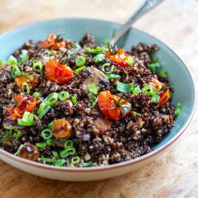 Instant Pot Quinoa With Mushrooms