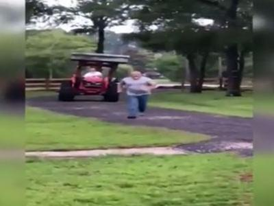 Video shows 72-year-old man trying to attack neighbor with tractor