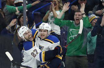 Schenn scores OT winner as Blues beat Rangers 4-3
