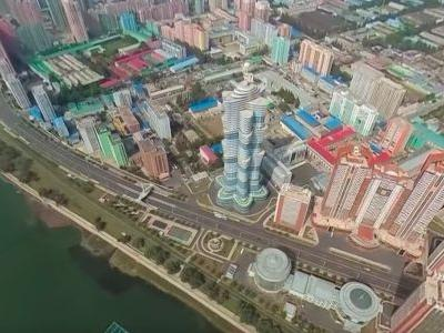 First 360-degree aerial video of Pyongyang shows North Korea's bizarre capital like never before