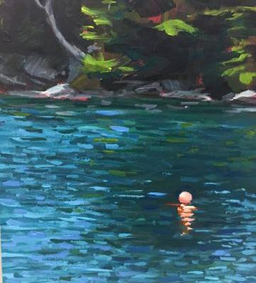 Calm Morning In Maine, 8x6 in acrylic by Kelley Carey MacDonald