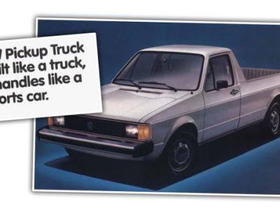 Enjoy This Nice Dose of Hyperbole from these 1980s Volkswagen Pickup Ads