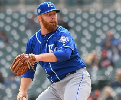 Royals pitcher acts fast as ice pelts bus in scary scene
