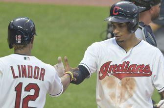 Four pitchers combine for a one-hitter, Indians shut out Tigers 8-0