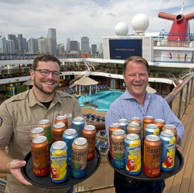 Cheers! Carnival Becomes First Cruise Line To Can And Keg Its Own Private Label Craft Beers