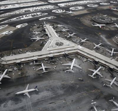 Flights headed for Newark airport had to be temporarily grounded after 2 drones were spotted flying nearby