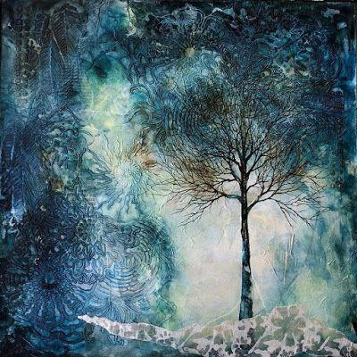 """Original Mixed Media/Abstract Painting, """"Night Moves"""", by Colorado Artist, Donna L. Martin"""