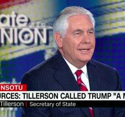 Jake Tapper presses Rex Tillerson to answer whether he called Trump a moron