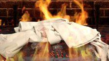 Bask In The Warm Glow Of Hundreds Of Lies With The Trump Pants On Fire Yule Log