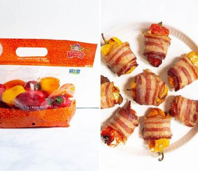 Bacon-Wrapped Pepper Poppers
