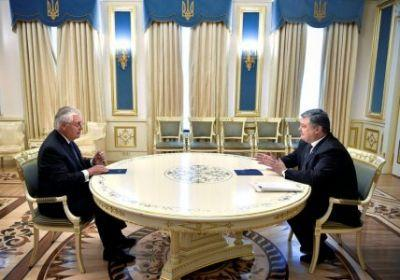 Ukraine is hopeful of US support to counter Russia following talks with Tillerson