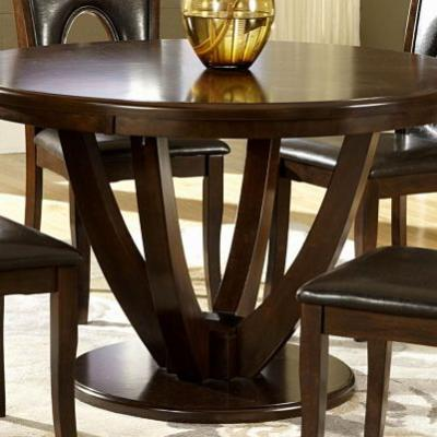 28 New 48 Round Dining Table with Leaf Graphics