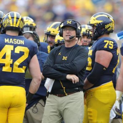 Michigan's Jim Harbaugh declines to add to rivalry trash talk: 'We could all use a break'