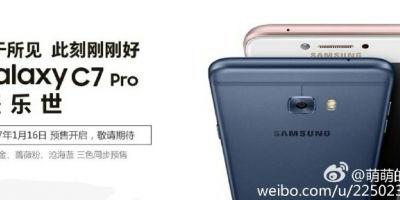 Leak: Samsung Galaxy C7 Pro Pre-Orders Open In China Jan. 16
