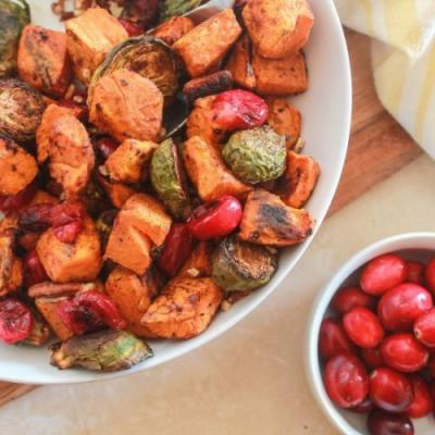 Brussels Sprouts and Sweet Potatoes
