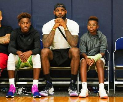 'That's how mature they are': LeBron James says his boys, 11 and 14, drink wine with him