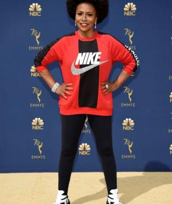 How Jenifer Lewis Made a Statement in a Sweatshirt on the Emmys 2018 Red Carpet
