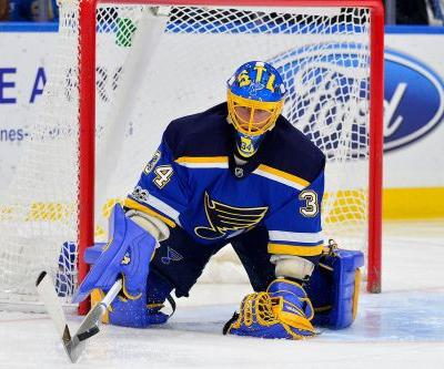 Blues goalie Jake Allen out 10-14 days with back spasms