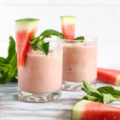 Coconut Watermelon Slushies