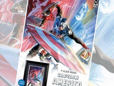 Exclusive First Look: Captain America 600 Lithograph by Alex Ross