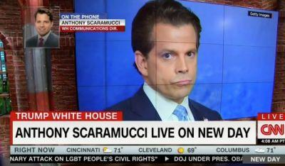 'Scaramucci is Dumb as a Rock': Twitter Weighs in On CNN's Scaramania