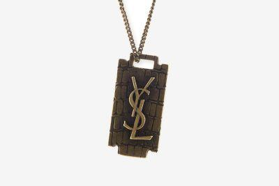 YSL Recently Unveiled Its New Razor Blade-Themed Pendant Necklace