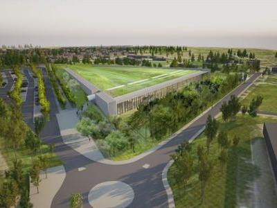 Rogers Stirk Harbour + Partners Breaks Ground on Green Roof Topped Louvre Storage Facility