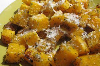 Roasted Parmesan Herb Butternut Squash