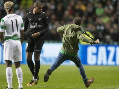 Celtic charged by UEFA after fan attempts to kick Mbappe