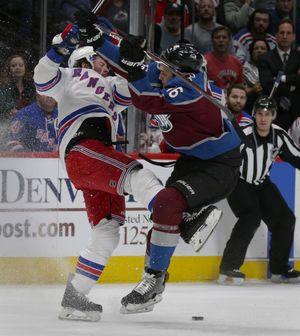 Avalanche roll to 9th straight win, 3-1 over Rangers