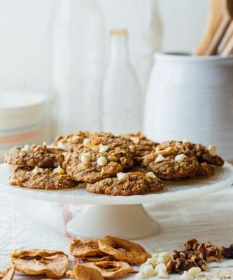 Apple walnut oatmeal cookies