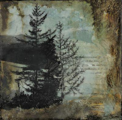 """""""These are the Moments"""", Original Mixed Media/Encaustic Painting by Colorado Artist, Donna L. Martin"""