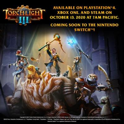 Torchlight III Release Date Announced for PS4, Xbox One and PC