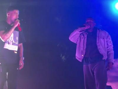 Watch Kanye West Join Kid Cudi In Chicago