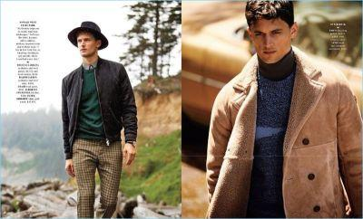 Born to Roam: Garrett Neff Models Fall Fashions for Departures Cover Shoot