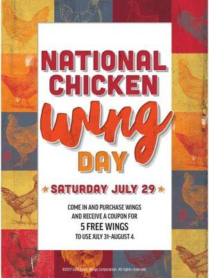East Coast Wings & Grill Celebrates National Chicken Wing Day