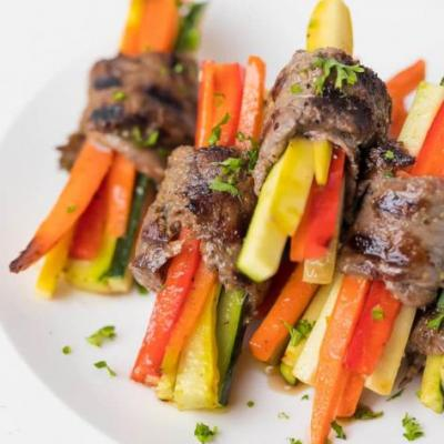Grilled Steak and Veggie Roll-Ups