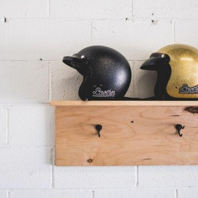 A place to hang your helmet and stay a