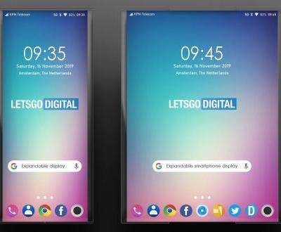 LG mobile patents a new smartphone with a retractable display