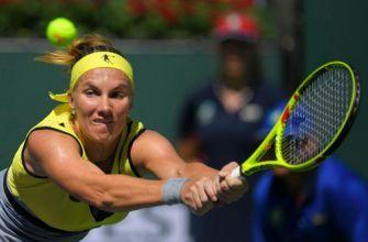 Vesnina beats Kuznetsova in 3 sets to win Indian Wells title
