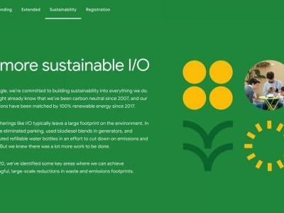 Google details I/O 2020 sustainability goals, like buying carbon offsets for attendee air travel