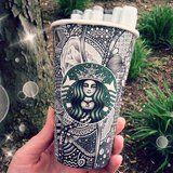 OMG! This Woman's Insanely Intricate Starbucks Cups Take Up to 16 Hours to Design