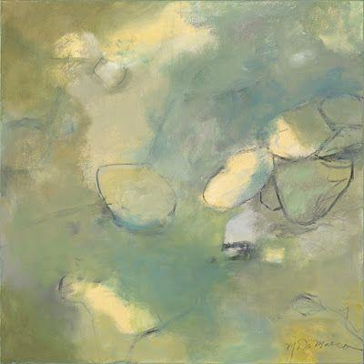 """Abstract Art, Expressionism, Contemporary Painting """"Stepping Stones"""" by Contemporary Artist Maggie Demarco"""