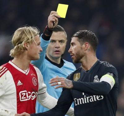 Ramos investigated by UEFA after admitting intentional booking against Ajax