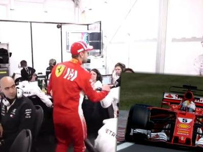 Sebastian Vettel Made A Classy Impact In The Mercedes Garage