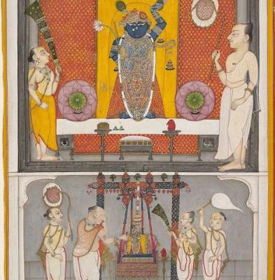 A Shrinathji painting from the Metropolitan Museum of Art in NYC