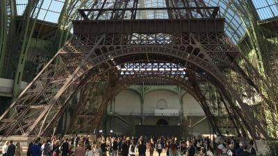Karl Lagerfeld Custom-Built an Eiffel Tower Replica for Chanel's Fall 2017 Couture Show
