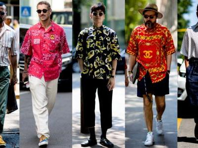 Showgoers Wore All Sorts of Camp Shirts at Milan Men's Fashion Week